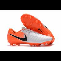 NK Tiempo Legend VII  FG Soccer Cleats-White&Orange