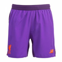 18-19 Liverpool Away Purple Soccer Jersey Short