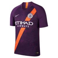 18-19 Manchester City Third Away Purple Soccer Jersey Shirt