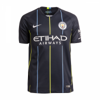 18-19 Manchester City Away Navy Soccer Jersey Shirt