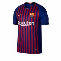 18-19 Barcelona Home Blue&Red Soccer Jersey Shirt