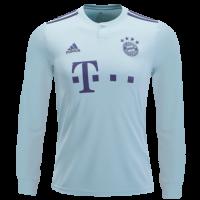 18-19 Bayern Munich Away Mint Green Long Sleeve Jersey Shirt