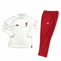 Kids 18-19 Liverpool White Sweat Shirt Kit(Top+Trouser)