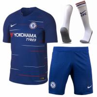 18-19 Chelsea Home Player Version Soccer Jersey Whole Kit(Shirt+Short+Socks)
