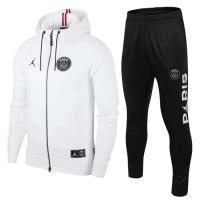 18-19 PSG White Hoody Training Kit(Jacket+Trouser)