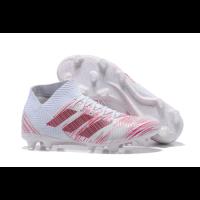 AD X NEMEZIZ 18.1 FG Soccer Cleats-White&Pink