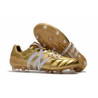 AD X Predator Mania Champagne FG Soccer Cleats-Golden