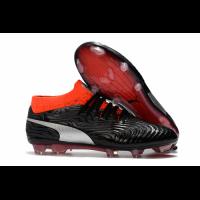 PM One 18.1 Syn FG Soccer Cleats-Black&Orange