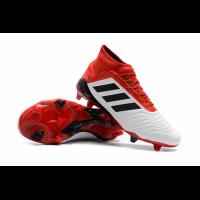 AD Predator 18+ FG boots-Red&White