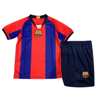 2019 Barcelona Special-Edition For El Clasico Home Children's Jerseys Kit(Shirt+Short)