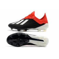 AD X 18.1 FG Soccer Cleats-Black&Red