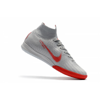 Nike Superfly X6 Elite Soccer Cleats-Gray&Red