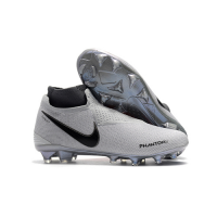 NK Phantom Vision Elite DF FG Soccer Cleats-Silvery