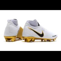 Nike Phantom Vision Elite DF FG Soccer Cleats-White&Goalden