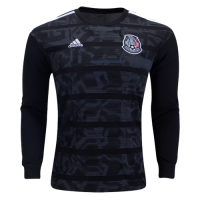 2019 Mexico Gold Cup Home Black Long Sleeve Jerseys Shirt
