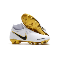 Nike Phantom Vision Elite DF FG Soccer Cleats-White&Goalden