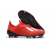 AD X 18+ FG Soccer Cleats-All Red