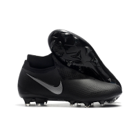 NK Phantom Vision Elite DF FG Soccer Cleats-All Black