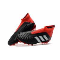 AD X Predator 18+AG Soccer Cleats-Red&Black