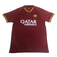 19-20 Roma Home Red Soccer Jerseys Shirt