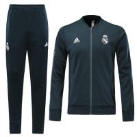 19-20 Real Madrid Navy V-Neck Training Kit(Jacket+Trousers)