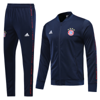 19-20 Bayern Munich Navy V-Neck Training Kit(Jacket+Trousers)