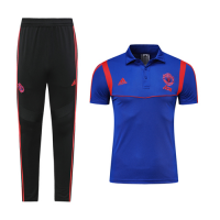 19-20 Manchester United Blue Polo Shirt Kit(Top+Trouser)