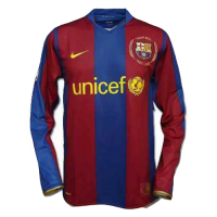 07-08 Barcelona Home 50-Years Anniversary Long Sleeve Retro Jersey Shirt