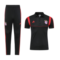 19-20 Bayern Munich Black Polo Shirt Kit(Top+Trouser)