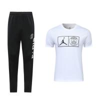 19-20 PSG White T-Shirt Shirt Kit(Top+Trouser)
