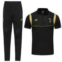 19-20 Juventus Black Polo Shirt Kit(Top+Trouser)