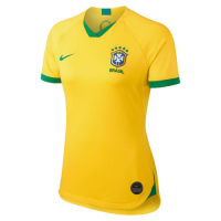 2019 World Cup Brazil Home Yellow Women's Jerseys Shirt(Player Version)
