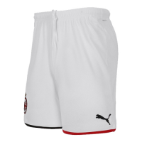 19-20 AC Milan Home White Soccer Jerseys Short