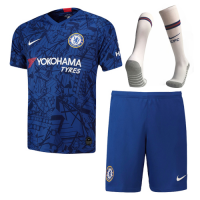 19-20 Chelsea Home Blue Soccer Jerseys Kit(Shirt+Short+Socks)