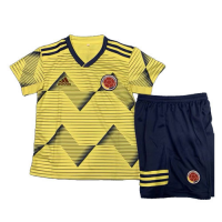 2019 Colombia Home Yellow Children's Jerseys Kit(Shirt+Short)