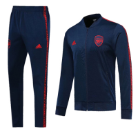 19-20 Arsenal Navy V-Neck Collar Training Kit(Jacket+Trousers)