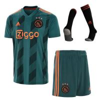19-20 Ajax Away Green Soccer Jerseys Whole Kit(Shirt+Short+Socks)