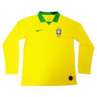2019 Brazil Home Yellow Long Sleeve Jerseys Shirt