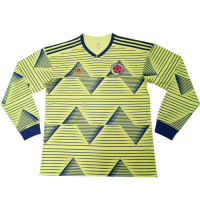 2019 Colombia Home Yellow Long Sleeve Soccer Jerseys Shirt