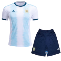 2019  Argentina Home Blue&White Soccer Jerseys Kit(Shirt+Short)