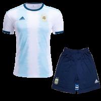 2019  Argentina Home Blue&White Soccer Jerseys Kit(Shirt+Short)