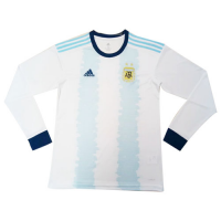 2019 Argentina Home Blue&White Long Sleeve Soccer Jerseys Shirt