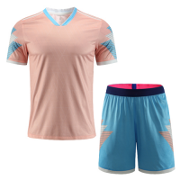 Customize Team Winner Pink&Light Blue Soccer Jerseys Kit(Shirt+Short)
