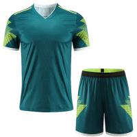 Customize Team Winner Green Soccer Jerseys Kit(Shirt+Short)