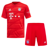 19-20 Bayern Munich Home Red Jerseys Kit(Shirt+Short)