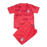 2019 USA Away Red Children's Jerseys Kit(Shirt+Short)