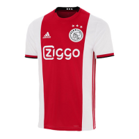 19-20 Ajax Home Red&White Soccer Jerseys Shirt(Player Version)
