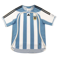 2006 World Cup Argentina Home Blue&White Retro Soccer Jerseys Shirt