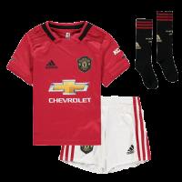 19-20 Manchester United Home Red Children's Jerseys Kit(Shirt+Short+Socks)