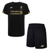 19-20 Liverpool Goalkeeper Black Soccer Jerseys Kit(Shirt+Short)